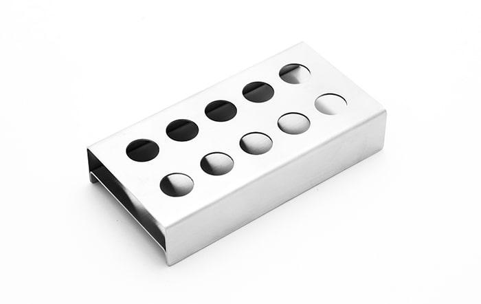 Tablett für Reagenzgläser aus Edelstahl